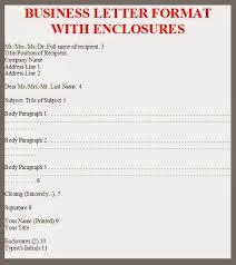 Business Letter Writing Format Enclosures Resume Pdf Download
