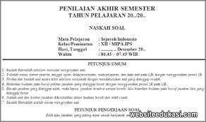Disini akan dibahas beberapa contoh contoh soal pkk kelas 12 beserta kunci jawabannya. Soal Pas Sejarah Indonesia Kelas 12 K13 Tahun 2020 2021 Websiteedukasi Com
