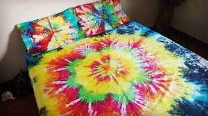 tie dye bedding tie dye flower doona
