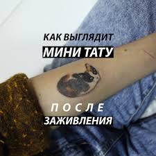 как выглядит мини тату после заживления вконтакте