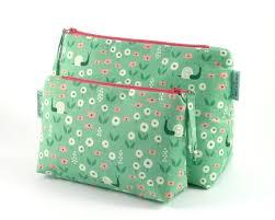 green nature zipper pouch makeup bag cosmetic zipper bag makeup organiser makeup brush holder bridesmaid gift gift for her wash bag