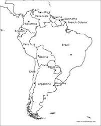 South America Outline Map Graphic Organizer For 4th 10th Grade