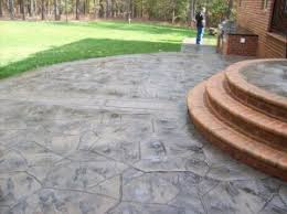 stamped concrete patio with stairs. Fine Patio Stamped Concrete Patio Intended Concrete Patio With Stairs