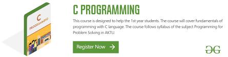 C Programming Language Geeksforgeeks