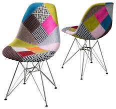 gdfstudio cassius multi color patchwork fabric chairs set of 2 armchairs and