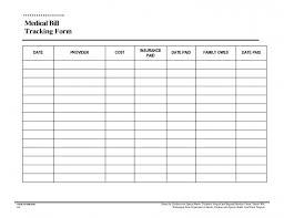 Medical Expense Spreadsheet Templates Zrom Tk Bill Tracker Template