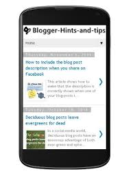 Blogger Mobile Template How To Turn On A Mobile Theme Template For Blogs In Blogger