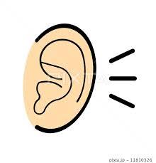「聴くイラスト」の画像検索結果