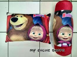 paket bantal guling masha and the bear