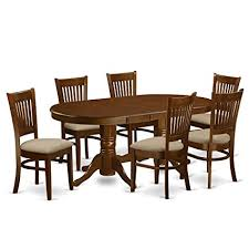 east west furniture vanc7 esp c 7 piece dining table set