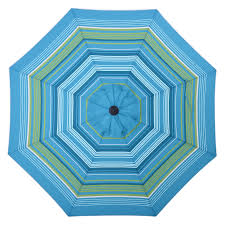 allen roth teal green stripe market 9 ft patio umbrella