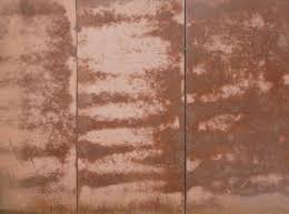 Contemporary Metal Panel Texture Of Large Panels In Red Tone With Inside Creativity Design