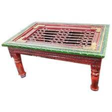 ethnic india rectangular wooden painted