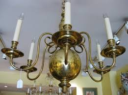 image of crystal antique brass chandelier