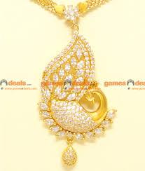nckn71 semi precious zircon stone handmade white peacock design necklace