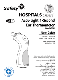 Safety First Ear Thermometer Temperature Chart Safety 1st 49531 User Guide Manualzz Com