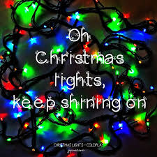 Christmas Lights Quotes Fascinating BMusic Quote Coldplay Christmas Lights