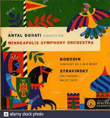 Antal Dorati Conducts The Minneapolis Symphony Orchestra - Vintage vinyl  album cover Stock Photo - Alamy