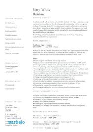 Registered Dietitian Resume Mesmerizing Registered Dietitian Resume Example Dietitian Resume Template