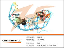 generac 0d8733 wiring harness back panel portable ziller electric generac 8kw wiring harness at Generac Wiring Harness