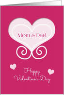 happy valentine s day dad. Contemporary Day Happy Valentineu0027s Day For Mom And Dad Pink Hearts Card In Valentine S E