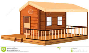 Wooden Cottage Design Architecture Design For Wooden Cottage Stock Vector