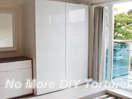 ikea pax farvik white glass door wardrobe