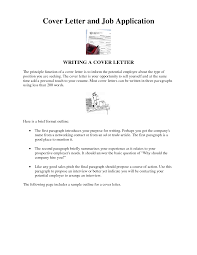 Cover Letter For Job Sarahepps Com