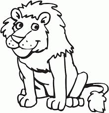 Small Picture Lion Coloring Pages Preschool and Kindergarten