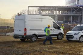 2018 ford transit van. contemporary van ford transit cargo van on a construction site with 2018 ford transit van