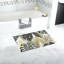 palm tree bath rugs rug set black and gold trees mat x palm tree bathroom set