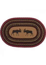 vhc brands 37868 rustic lodge flooring berland tan oval jute rug 18 x 26 black dabcqvsqy