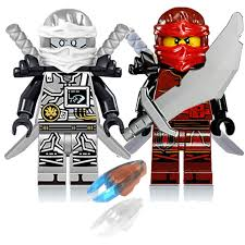 Baukästen & Konstruktion Lego Ninjago 7er Figuren Pack Meister Wu Lloyd Kai  Jay Cole Zane und Nya Neu transparency