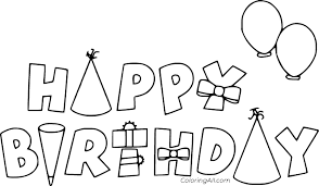 Perfect for birthday party crafts, classroom or home activities. Happy Birthday Coloring Pages Coloringall