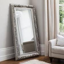 floor mirror. Annalise Silver Leaner Mirror - SHINE MIRRORS AUSTRALIA 1 Floor
