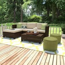 Handy Living Aldrich Brown 5 piece Indoor Outdoor Sectional and