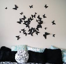 Girly Butterfly Decorations Ideas For Wall Bedroom | The Latest For  Butterflies 3D Wall Art (