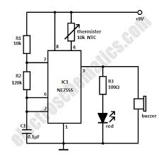 temperature wiring diagram high temperature alarm circuit high temperature alarm circuit schematic temperature sensor
