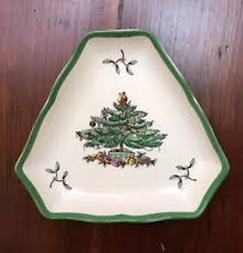 Image is loading Original-SPODE-Christmas-Tree-Triangle-Trinket-Plate-Candy-
