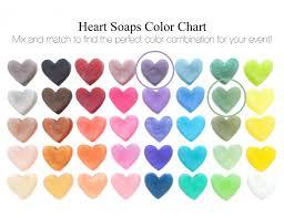 Purple And Celadon Green Heart Soap Favors