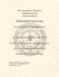 presidential inauguration loyola university chicago