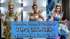 MISS THAILAND Amanda Obdam's National Costume for Miss Universe 2020 | Top  3 Social Media Votes - YouTube