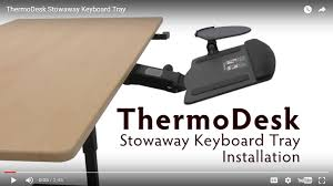 stowaway keyboard tray installation guide