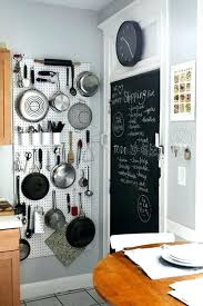 hanging pots and pans on wall diy full image for vertical storage chalkboard hang from a