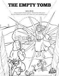 Coloring Pages For John In Prison And Jesus Sunday School Coloring