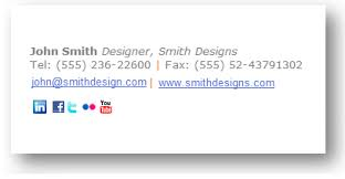 example of email email signature examples design your own signature