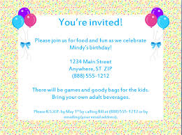 Invitation For Party Template Cool Decent Birthday Invitation Template