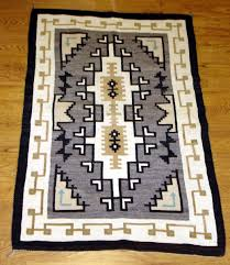 Unique Blue Navajo Rugs 1950 Two Grey Hills With Rug Throughout Models Design
