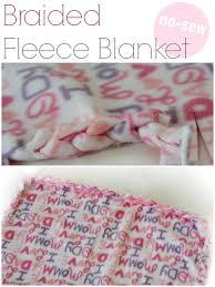 no sew braided fleece blanket