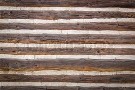 abstract of vintage antique log cabin wall stock photo